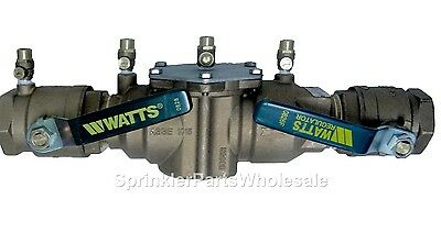 $468.85 • Buy Watts 2  007M1-QT Double Check Valve Backflow Preventer Assembly 0062427 DCA
