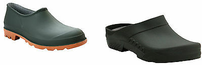 Mens Womens Slip On Gardening Wellies Waterproof Ladies Garden Clogs Shoes 2-12 • 11.99£