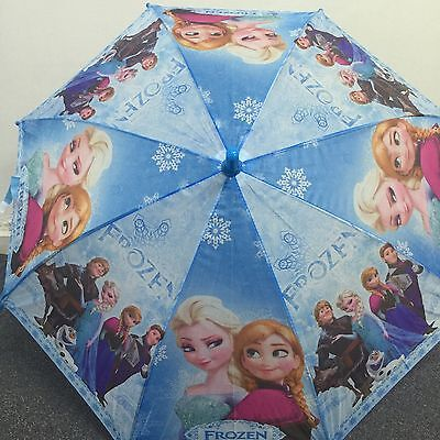 AU8.99 • Buy Disney Frozen Anna And Elsa Girls Kids Umbrella With Whistle