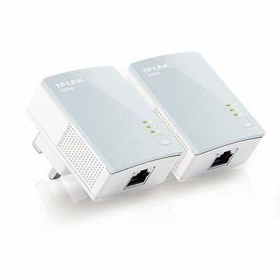 £21.99 • Buy TP-Link TL-PA411KIT 600Mbps Nano Powerline Ethernet Adapter Home Plug Twin Pack