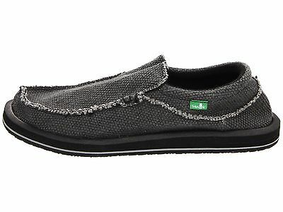 Sanuk Chiba Black Men's Slip On Sidewalk Surfers SMF1047 • 45.13£