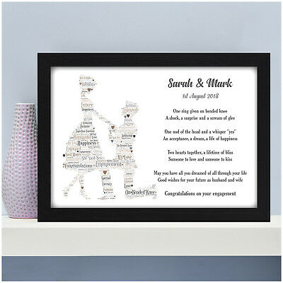 Personalised Engagement Gifts Engaged Couple Presents Keepsakes Fiance Him Her • 5.95£