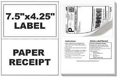 $14.95 • Buy 100 Self Adhesive Mailing Shipping Labels W/ Tear Off Paper Receipt Paypal EBay