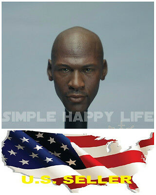 $36.74 • Buy 1/6 Michael Jordan Head Sculpt 4.0 Custom Fit Hot Toys Enterbay Phicen M36 ❶USA❶