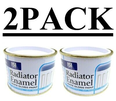 2 PACK Radiator Enamel Paint White Gloss Heat Resistant Topcoat Pipes Quick Dry  • 9.99£
