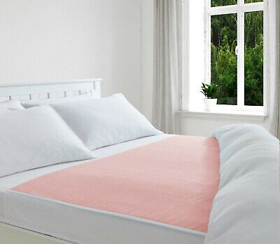 £10.75 • Buy Absorbent Washable Incontinence Bed Sheet/ Pad/ Mattress Protection Pink