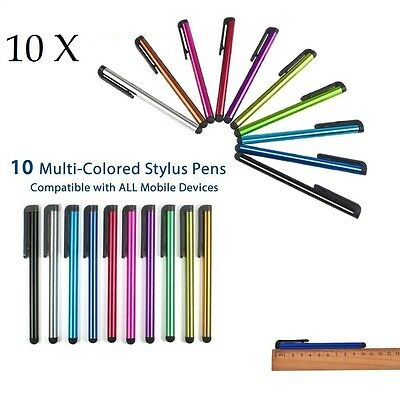 10x Universal Touch Screen Stylus Pen Pens For All Mobile Phone IPhone IPad Tab • 2.69£