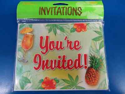 Pineapple Punch Tropical Cocktail Summer Luau Beach Theme Party Invitations • 5.78£