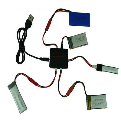 AU5.04 • Buy 3.7V 5 In 1 Lipo Battery USB Charger Adapter For Syma X5 X5C X5C-1 RC Drone HOT