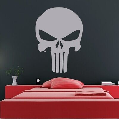 Punisher Skull Superhero Logo Wall Art Sticker (AS10182) • 25.99£