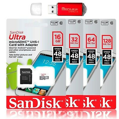 $6.95 • Buy SanDisk 128GB 64GB Ultra Micro SD Class 10 TF SDXC Memory Card Mobile Cellphone