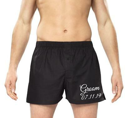 Personalised Mens Boxers/boxer Shorts -Groom - Your Wedding Date   • 7.50£