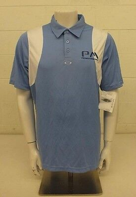 e8fa2799fbf07 Oakley PM Promotorsports Blue   White Conduct Polo Shirt Men s Large NEW   60 • 29.95