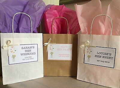 Personalised Vintage Paper Bags/Wedding/Hen/Christening/Party/Gift Mason Jars • 0.99£