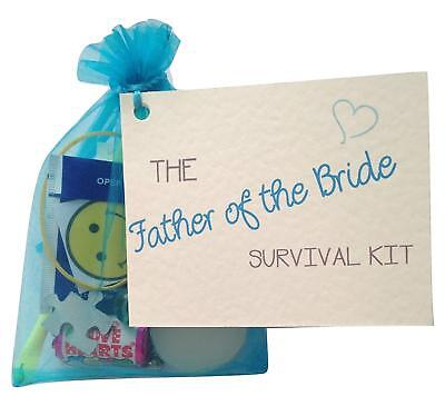 Father Of The Bride /groom Novelty Survival Kit Thanks Gift N Card Gift • 5.50£