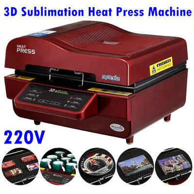 AU769.78 • Buy 3D Sublimation Heat Press Machine For Phone Cases Mugs Cups Heat Transfer, 220V