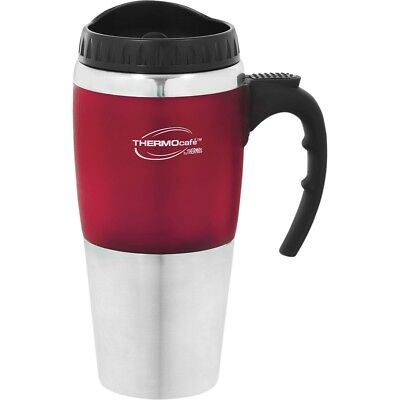 AU22.99 • Buy Thermos STAINLESS STEEL VACUUM INSULATED Cafe Travel Mug Double Wall Red 450ml