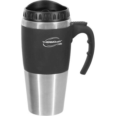 AU23.69 • Buy New Thermos STAINLESS STEEL VACUUM INSULATED Cafe Travel Mug Double Wall 450ml