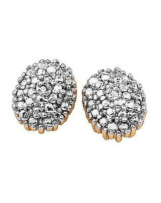 £2.99 • Buy  Diamond Accent Cluster Earrings By Ginai Jeweller`s Bling Stud`s New In