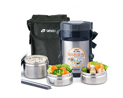 AU106.88 • Buy Stainless Steel Insulated Thermos Lunch Box Thermal Food Jar Container Lunch Bag