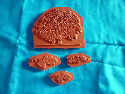Oak Tree And Acorn Rubber Stamps - Backed With Cling Foam • 2£