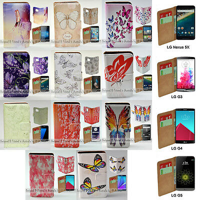 AU14.98 • Buy For LG Series Mobile Phone - Butterflies Theme Print Wallet Phone Case Cover #1`