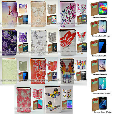 AU14.98 • Buy For Samsung Galaxy Series - Butterflies Print Wallet Mobile Phone Case Cover #1