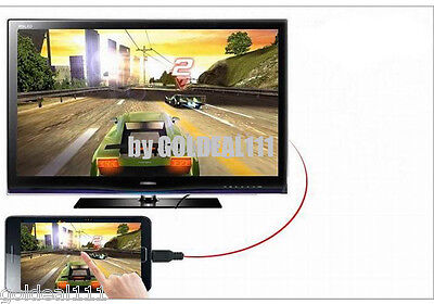 AU9.25 • Buy MHL Micro USB To HDMI HDTV Cable Adapter For Samsung Galaxy SIII S3 S4 Note 2*