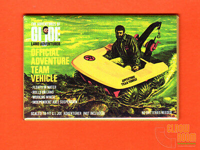 $ CDN4.39 • Buy GI Joe Official Adventure Team Vehicle 2x3  Fridge/locker Magnet Box Art Hasbro