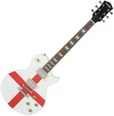 $790 • Buy Indie Designer St George Unique Design Electric Guitar White Red Painting Demo