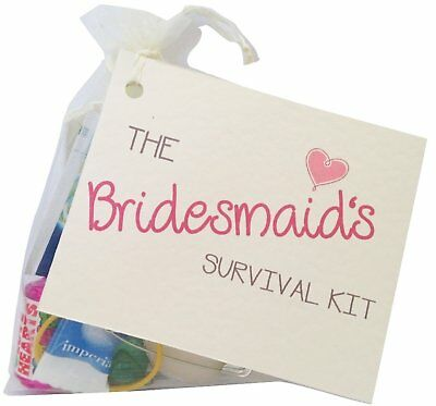 Wedding Novelty Survival Kit.Bridesmaid,Mother Of The Bride,Father Of The Groom • 5.50£