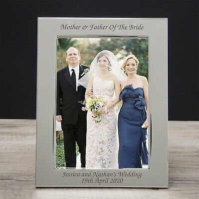 £10.99 • Buy Personalised Mother And & Father Of The Bride Photo Frames Wedding Favour Gifts