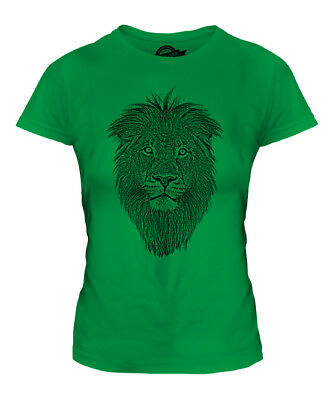 £16 • Buy Lion Face Sketch Ladies Printed T-shirt Top Big Cat King Of The Animals