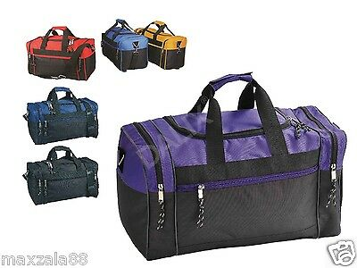 $9.99 • Buy 17  Duffle Bag Duffel Travel Size Sports Gym Bags Workout Blank Carry-on Luggage