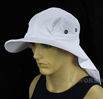 $9.85 • Buy Boonie Cap Bucket Hat Sun Flap Ear Neck Cover Sun Protection Soft Material-White