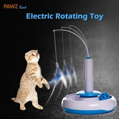 AU20.99 • Buy Cat Puzzle Pet Fun Electric Automatic Rotating Play Interactive Toys Plush