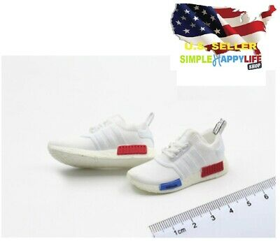 $17.99 • Buy 1/6 Male Sneakers White Running Shoes For 12  Figure Enterbay Hot Toys ❶USA❶