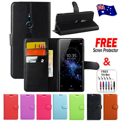 AU7.99 • Buy Wallet Leather Flip PU Case Cover For Sony Xperia XZ XZ2 XA XA1 | X Performance
