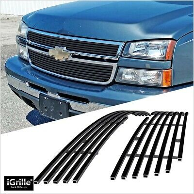 $73 • Buy Fits 2006-2007 Chevy Silverado 1500/05-06 2500HD/3500 Black Billet Grille Insert