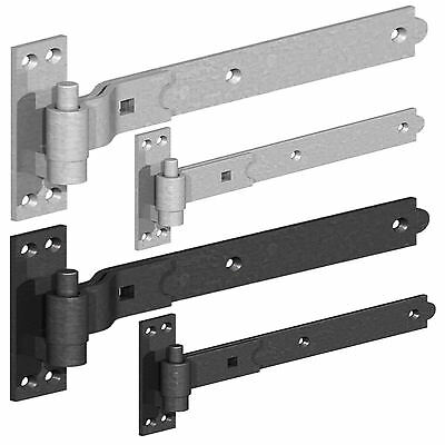 £11.25 • Buy Heavy Duty Hook And Band Gate Shed Stable Door Hinges Galvanized Or Black