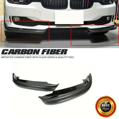 AU364.93 • Buy Carbon Fiber Front Lip Splitters Flaps Fit For BMW F30 Non-M Bumper 2012-2015