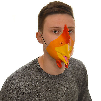 Half Face Chicken Funny Fancy Dress Latex Mask For Kids & Adults Halloween • 3.99£