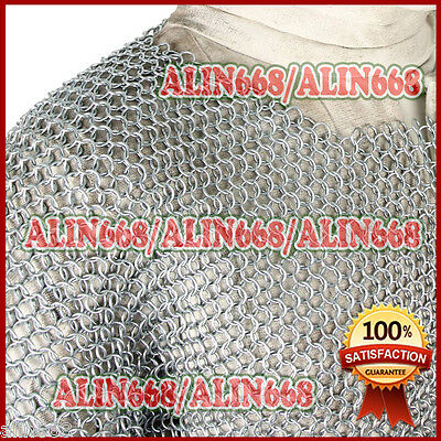 £26 • Buy Medieval Aluminium Chainmail Shirt Butted Chain Mail Armour Role Play Costume
