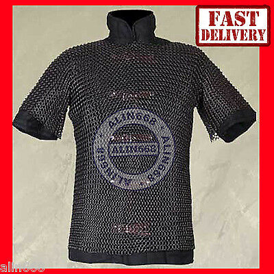 £35 • Buy Chainmail Shirt Butted Black Medieval Chainmail Armor Knight Costume Size M