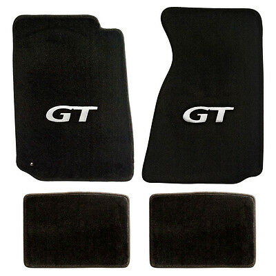 $99.90 • Buy NEW! 1994-2004 Ford Mustang Black Carpet Floor Mats With GT Logo Silver Set Of 4