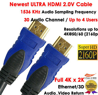 $ CDN5.68 • Buy 4k 30 Audio Channel W/Up To 4 Users-Newest 6FT HDMI 2.0v Cable 2160P Ethernet,3D
