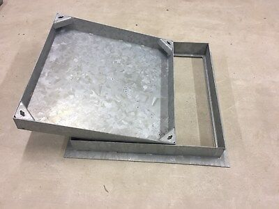 450x450x80 MANHOLE COVER Recessed - All Steel Frame & Tray By MCD Company • 30.24£
