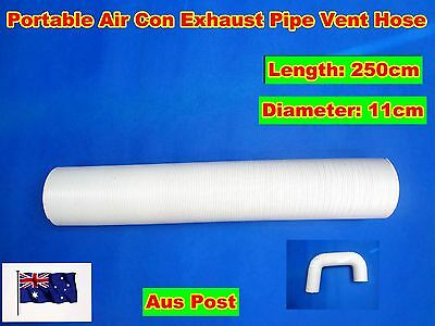 AU46.06 • Buy Portable Air Conditioner Spare Parts Exhaust Pipe Tube Vent Hose (250cmx11cm)