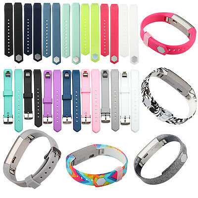AU5.75 • Buy Small Large Replacement Sil Wrist Band Strap For Fitbit Alta & Alta HR Wristband
