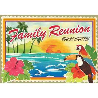 Family Reunion Tropical Beach Vacation Hawaiian Luau Party Novelty Invitations • 4.24£